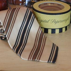 Preswick & Moore Woven Striped Silk Tie